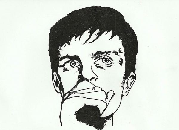 Ian Curtis por Rocksana